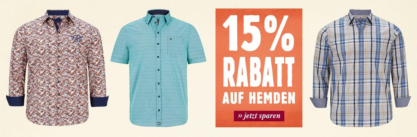 15% auf Hemden!
